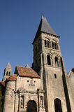 The gothic church of Morienval in Picardie Royalty Free Stock Images