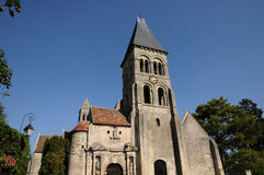 Gothic church of Morienval in Picardie Royalty Free Stock Photography