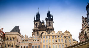 Gothic Church of Mother of God in front of Tyn in Old Town Square in Prague, Czech Republic Royalty Free Stock Photo