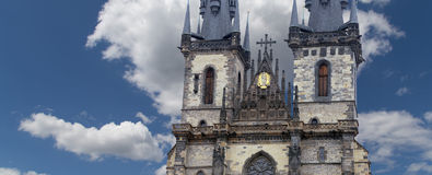 Gothic Church of Mother of God in front of Tyn in Old Town Square in Prague, Czech Republic Royalty Free Stock Photography