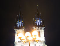 Gothic Church of Mother of God in front of Tyn in Old Town Square in Prague, Czech Republic Stock Photo