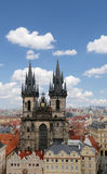 Gothic Church of Mother of God in front of Tyn in Old Town Square in Prague, Czech Republic Royalty Free Stock Photos