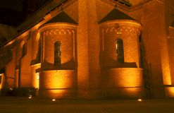 Gothic church at night Royalty Free Stock Photography