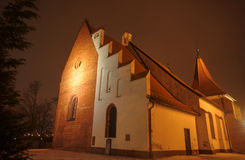 Gothic church in the night Royalty Free Stock Photo