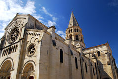Gothic church in Nimes France Royalty Free Stock Image