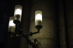 Gothic church with old fashioned lamp. Gothic church with old fashioned wall lamp Royalty Free Stock Photography