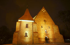 Gothic church of the order Royalty Free Stock Images