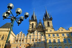 The Gothic Church of our Lady before Tyn on Old Town Square, Prague, Czech republic Stock Image