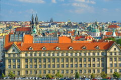 The Gothic Church of Our Lady before Tyn, Panorama of the Prague, old Town, Prague, Czech republic Royalty Free Stock Photo