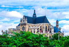Gothic church in Paris Royalty Free Stock Photos