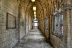 Gothic church passageway Stock Images