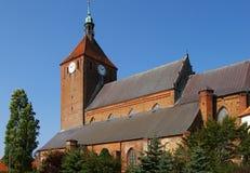 Gothic church Poland. Poland, Darlowo. Gothic church, blue sky Royalty Free Stock Photos