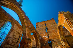 Gothic church ruins Stock Images