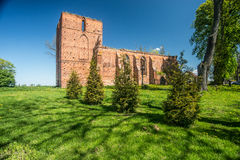 Medieval gothic church ruins Royalty Free Stock Photos