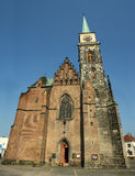 Gothic church - Saint Jilji. Nymburk, Czech Republic stock photos