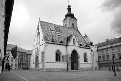 Gothic church of St. Mark, Zagreb Royalty Free Stock Photo