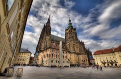 Gothic church of St Vitus Cathedral, Prague, Stock Photography