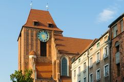 A gothic church in Torun, Poland. Royalty Free Stock Images