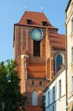 A gothic church in Torun, Poland. Royalty Free Stock Photo