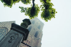 Gothic church tower Stock Images