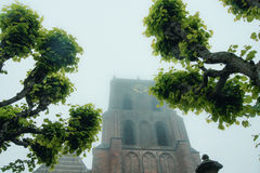Gothic church tower Royalty Free Stock Photos