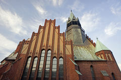 Gothic church with tower in Poznan Royalty Free Stock Photography