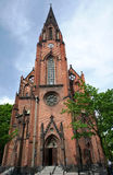 Gothic church with tower in Poznan Royalty Free Stock Photos