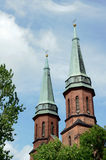 Gothic Church Towers In Pruszkow Stock Images
