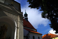 Gothic church in town Písek. South Bohemia, Europe Royalty Free Stock Photo