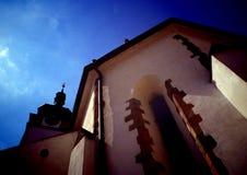 Gothic church in town Písek. South Bohemia, Europe Stock Photos