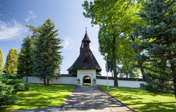Gothic church in Tvrdosin, Slovakia royalty free stock photo