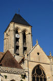 the gothic church of Vetheuil Stock Photo