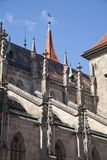 The gothic church of the virgin Mary Marienkirch Royalty Free Stock Image