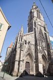 The gothic church of the virgin Mary Marienkirch Royalty Free Stock Photo