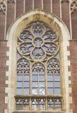 Gothic church window closeup Royalty Free Stock Photo