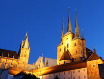 Gothic churches in Erfurt, Germany Royalty Free Stock Photo