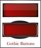 Gothic, classic buttons. Red classic web vector buttons Royalty Free Stock Photo