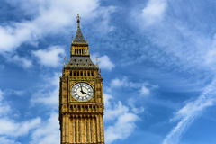 Gothic clock face on Big Ben, London Royalty Free Stock Image
