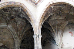 Gothic cloister Royalty Free Stock Photo