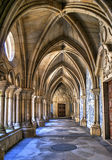 Gothic cloister of the cathedral of Porto royalty free stock images