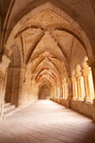 Gothic cloister. Monastery of Santa Maria de Valbu Royalty Free Stock Image