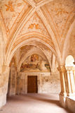 Gothic cloister. Monastery of Santa Maria de Valbu Stock Image
