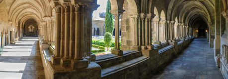 Gothic cloister Royalty Free Stock Image