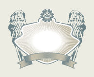 Gothic coat of arms Stock Photos