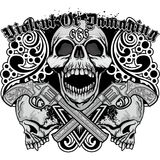 Grunge skull coat of arms Stock Images