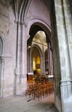 Gothic Collegiate Church Notre-Dame in Vernon. Normandy, France. royalty free stock photo