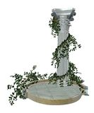 Gothic column 2. 3D render of a gothic column with green vines royalty free illustration