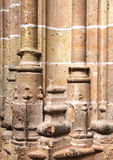A gothic column base, from segovia Stock Images