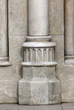 Gothic column3. Hungary, Budapest, Castle Hill Gothic columns detail Royalty Free Stock Image