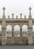 Gothic column2. Hungary, Budapest, Castle Hill Gothic columns detail Royalty Free Stock Photos